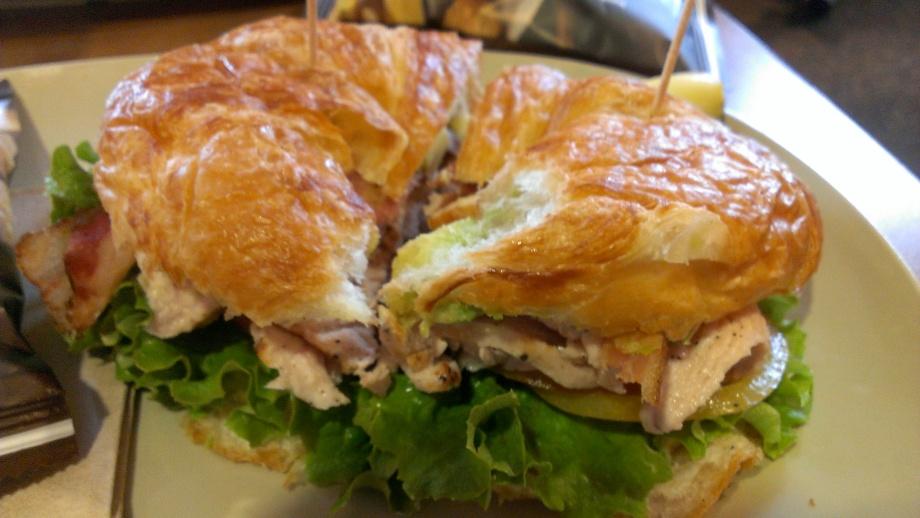 Turkey Avocado BLT on a croissant