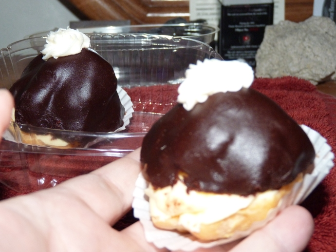 Bavarian Cream Puffs have a bonus chocolate layer.