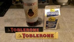 Chocolate Fondue ingredients