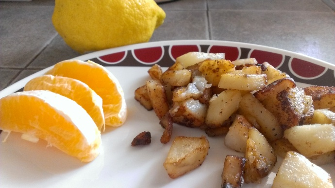 Taters, oranges, and lemons. That's two food holidays in one!