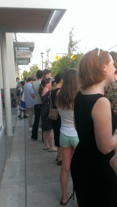 The line for Salt & Straw: typically long, especially on a hot summer evening.