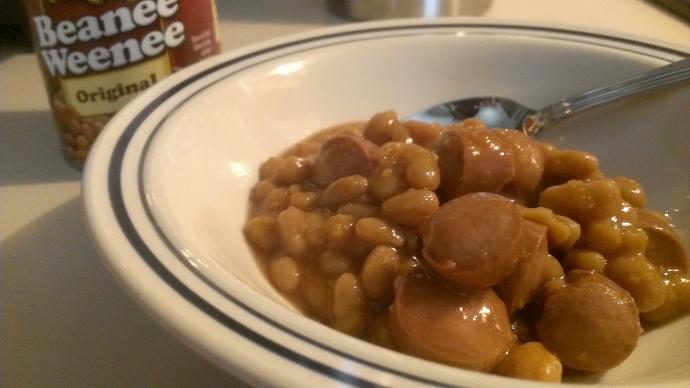 Beans 'n franks.