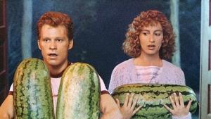 He carried a watermelon.